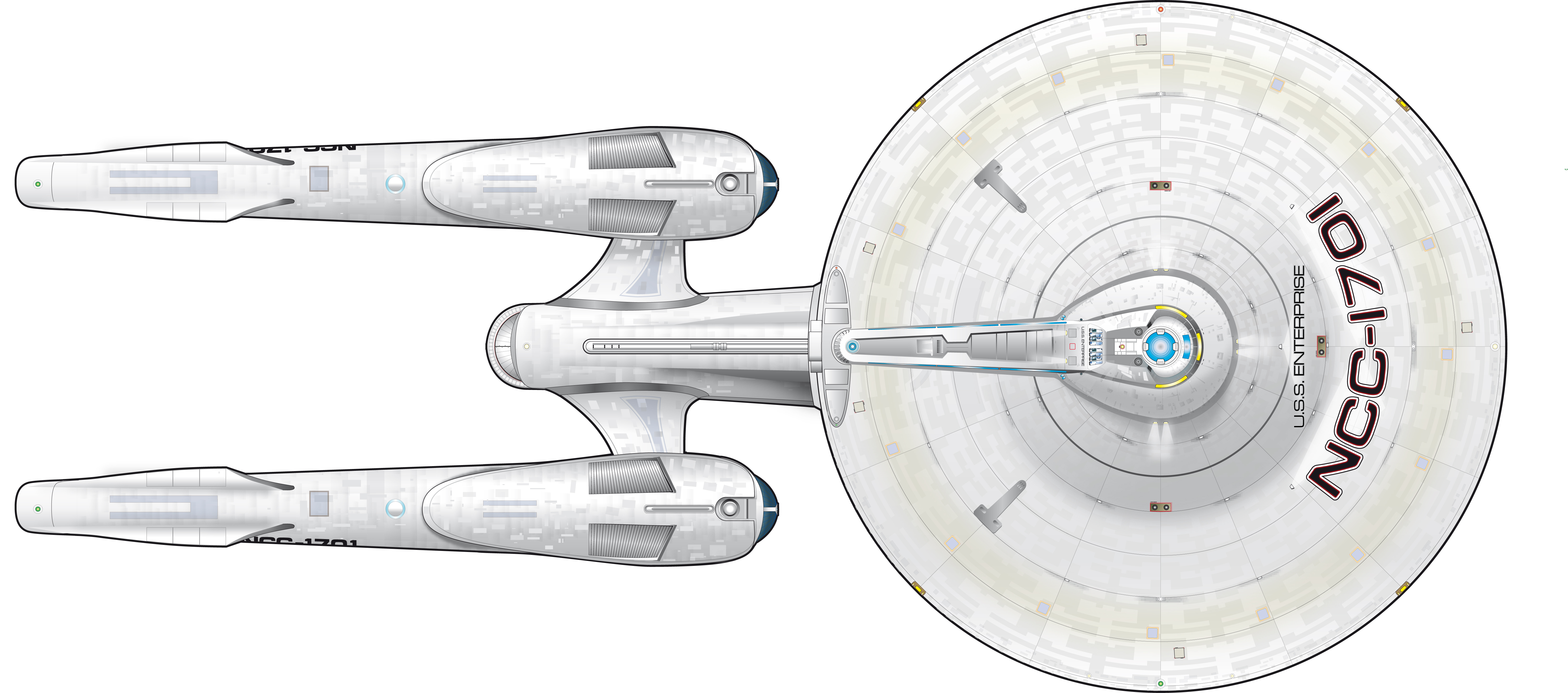 Star Trek Blueprints: Star Trek New Enterprise Color ...