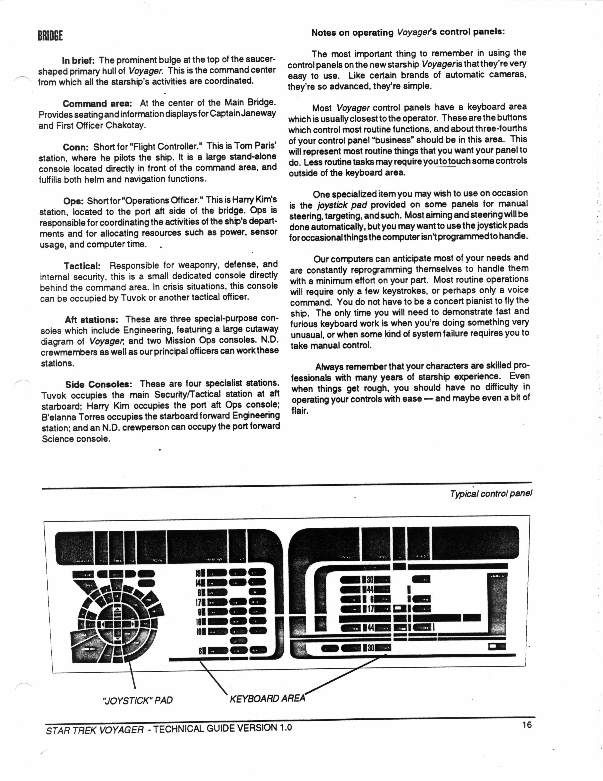 Star Trek Blueprints Voyager Technical Manual Schematics
