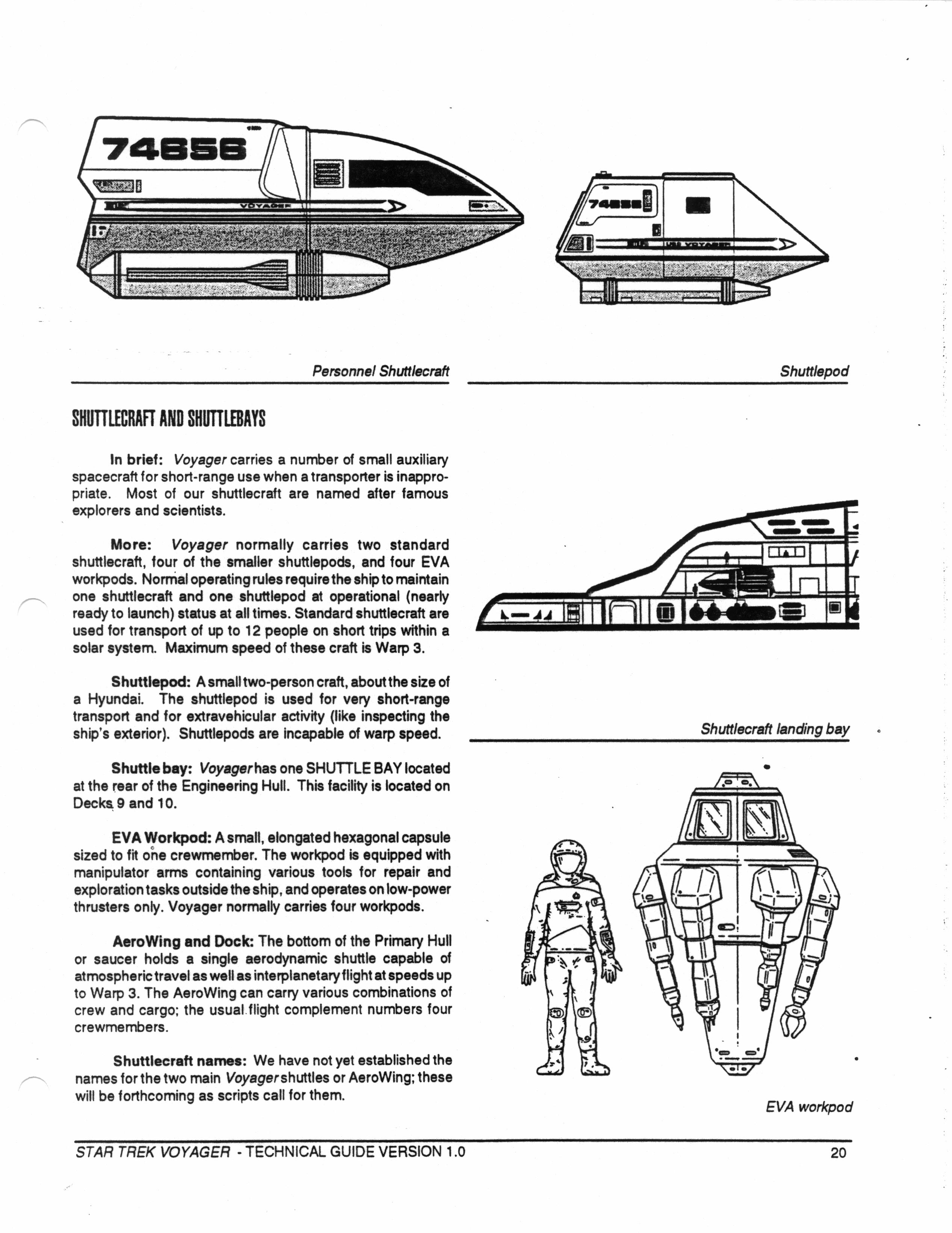 Star trek voyager spacecraft - Star Trek Voyager Technical Manual