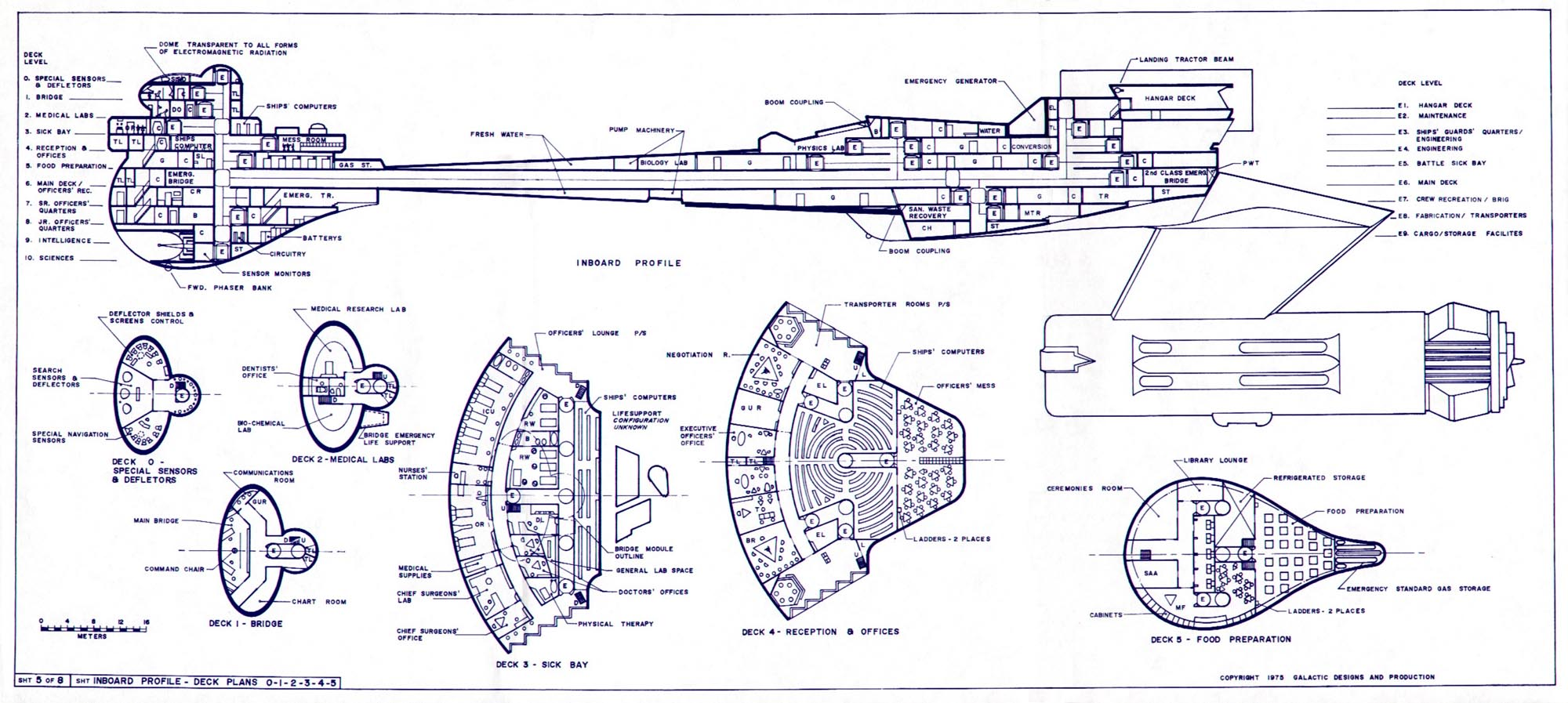 Star Trek Klingon Ship Deck Plans Star Trek LCARS Blueprint Database ...