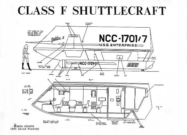 Star Trek Blueprints: Cl F Shuttlecraft Galileo II NCC-1701/7