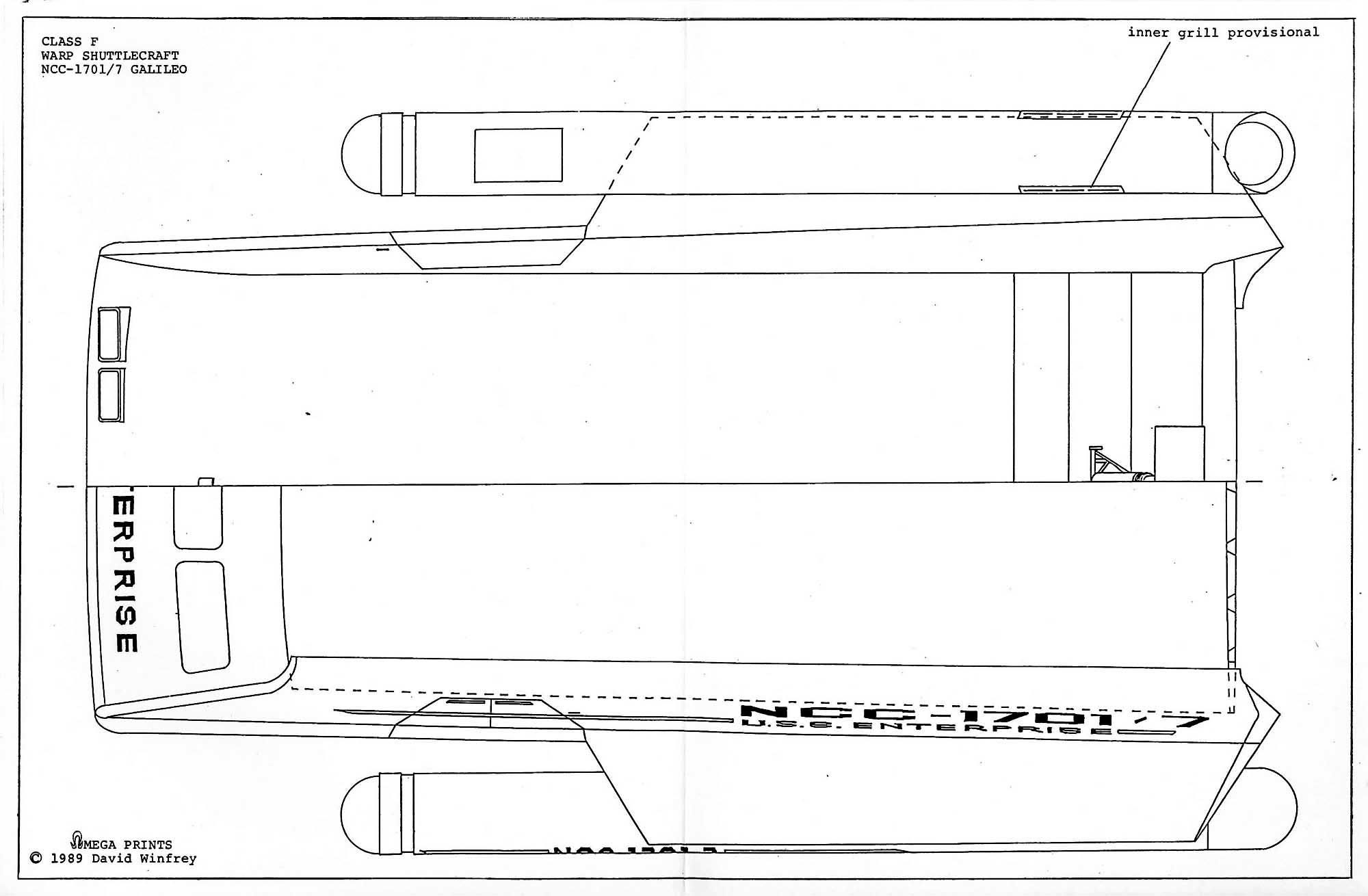 Star Trek Blueprints: Cl F Shuttlecraft Galileo II NCC-1701/7 Shuttle Craft Wiring Diagram on needle diagram, splinter diagram, altitude diagram, pioneer diagram, parking diagram,