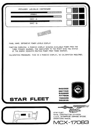 Star Trek Blueprints U S S Enterprise NCC 1701 Command
