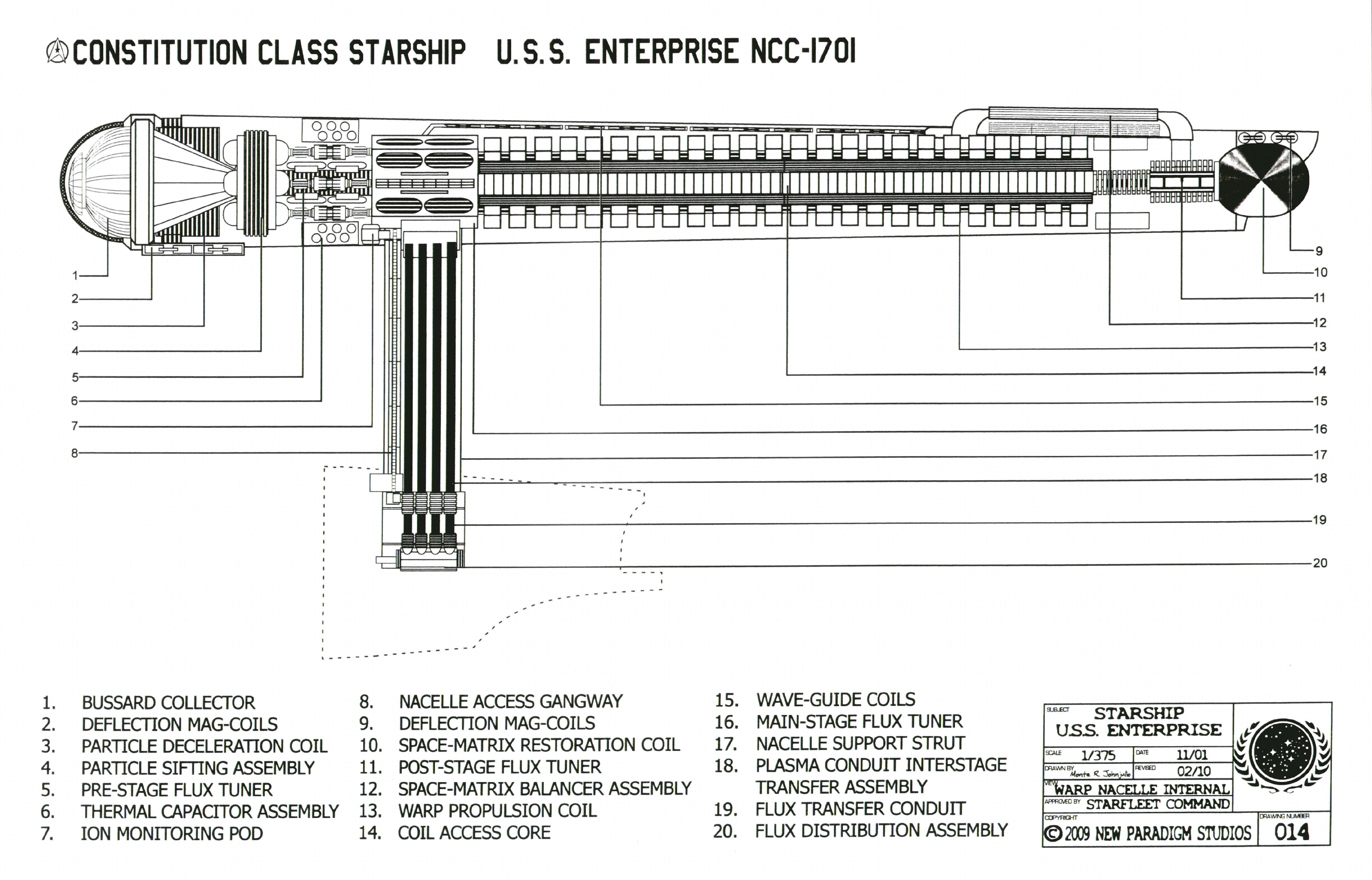 Constitution Class Starship   U.S.S. Enterprise NCC 1701
