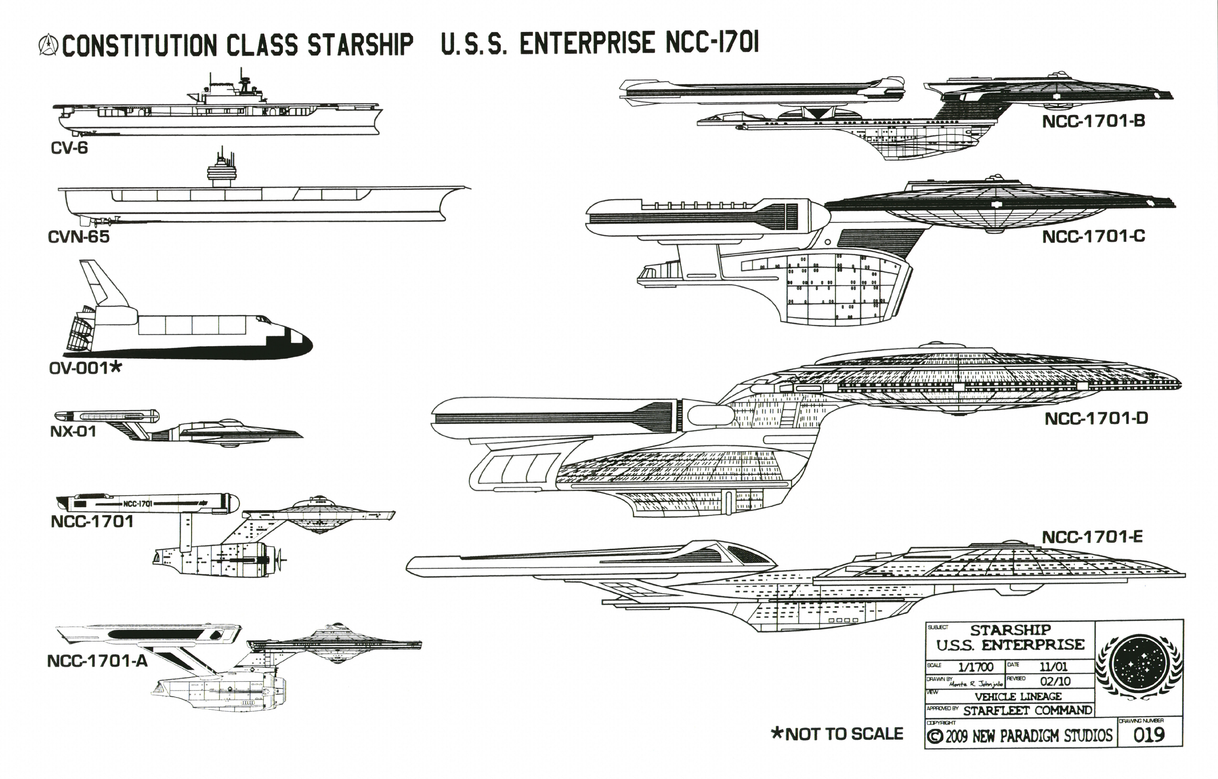 Star trek blueprints constitution class starship uss sheet 18 vessel lineage malvernweather Image collections