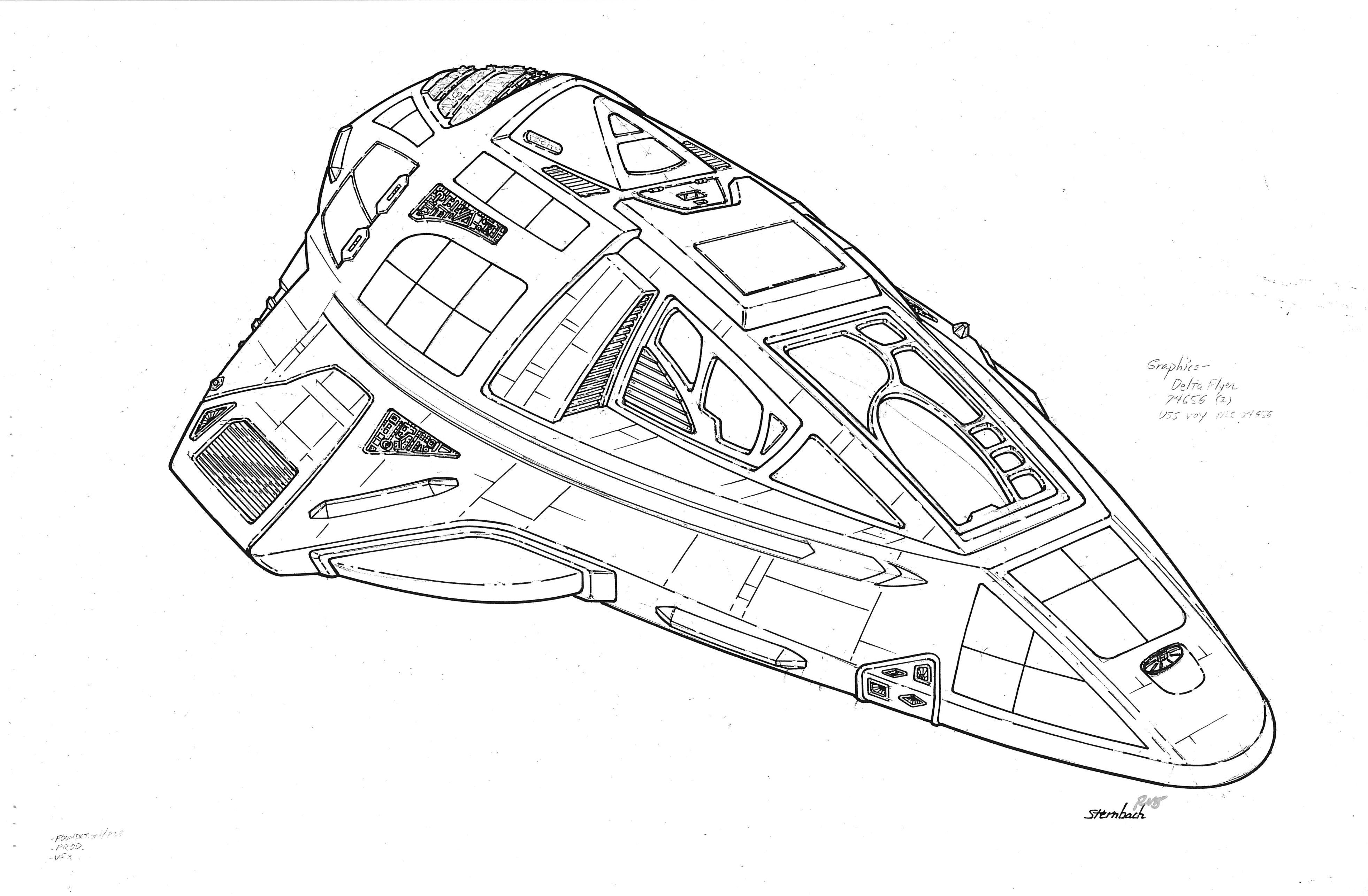 Star trek voyager spacecraft - Delta Flyer Star Trek Voyager