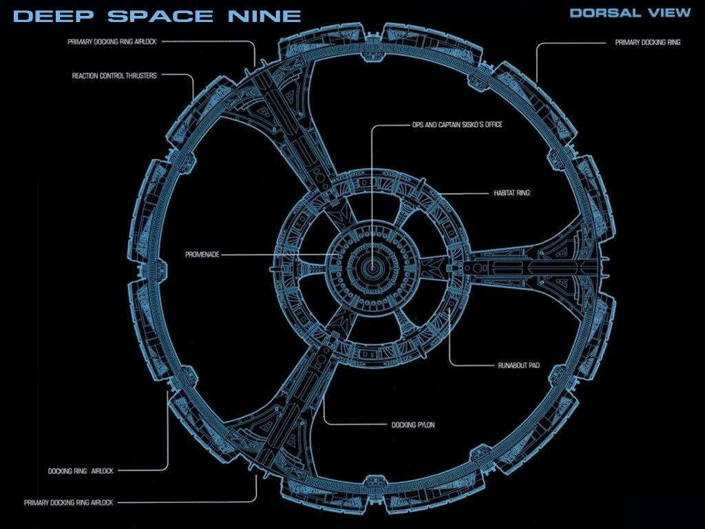 |Deep Space Nine Space Station Dorsal View|