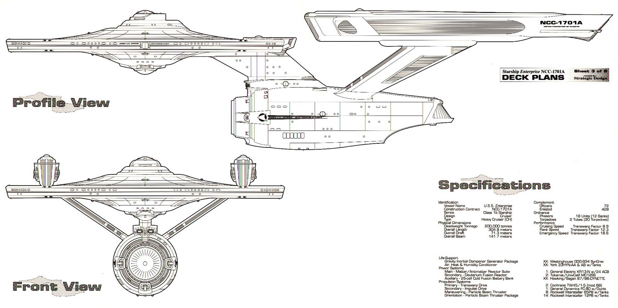Enterprise NCC-1701A Deck Plans