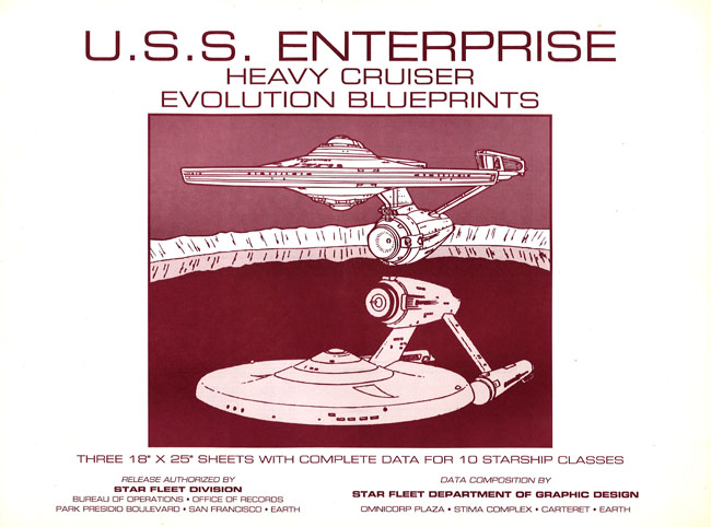 U.S.S. Enterprise Heavy Cruiser Evolution Blueprints