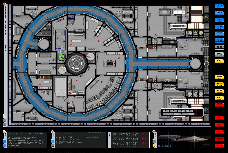 Superb Enterprise NX 01 Deck Plans