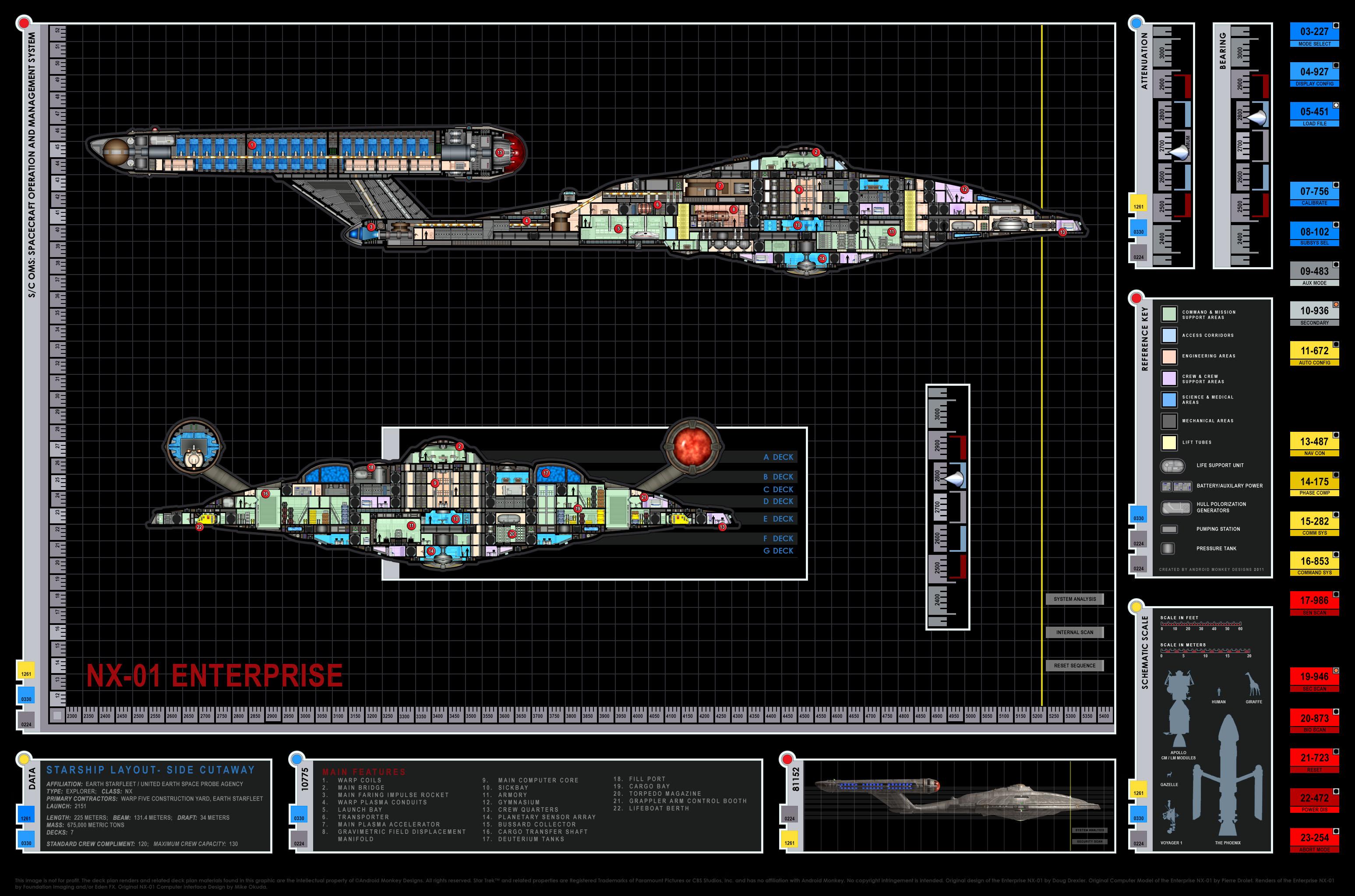 Enterprise NX 01 Deck Plans