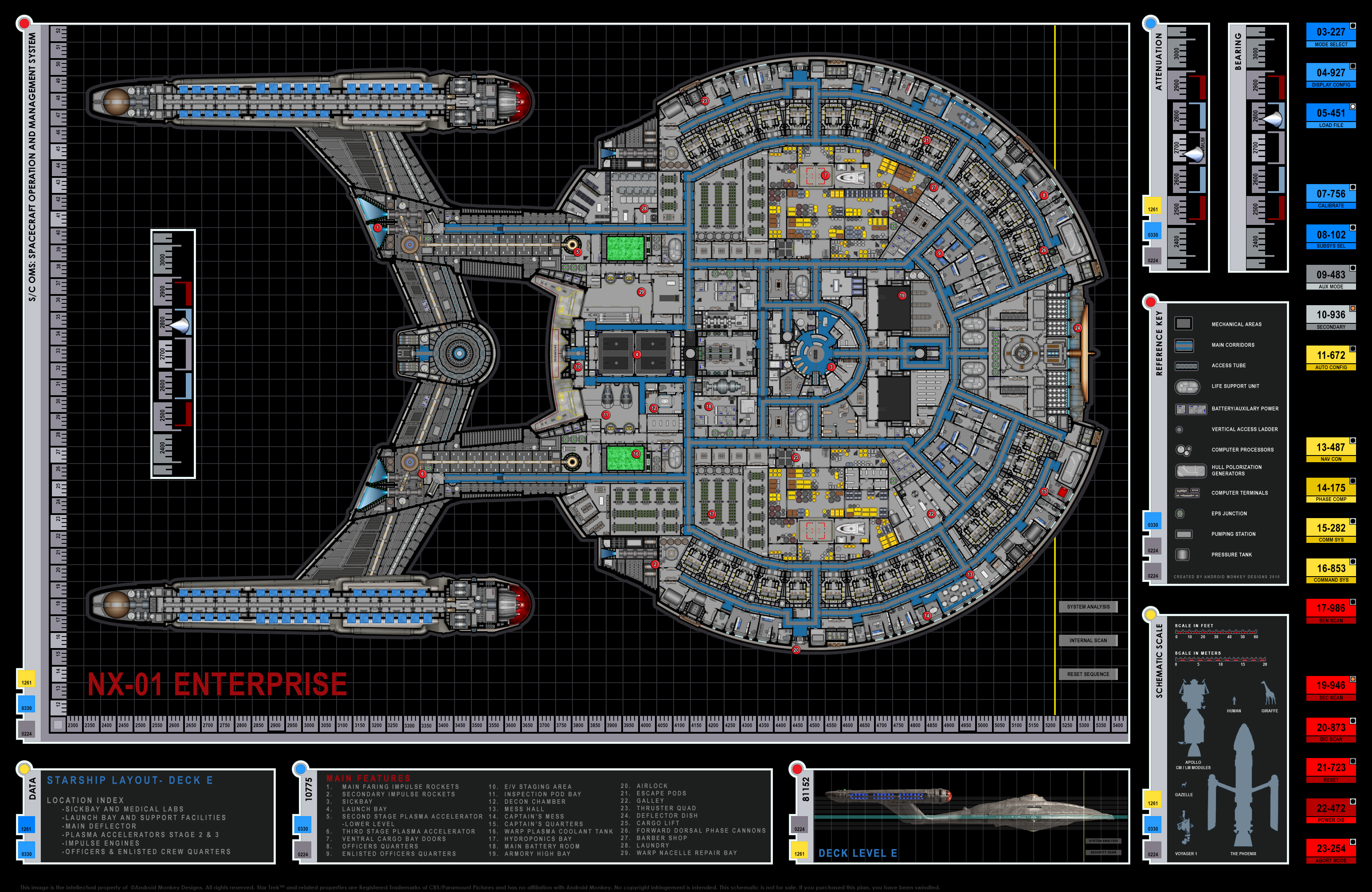 Star Trek Blueprints Enterprise Nx 01 Deck Plans