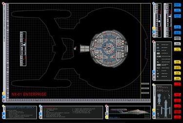 Star trek blueprints enterprise nx 01 deck plans for Decor fusion interior design agency manchester m3