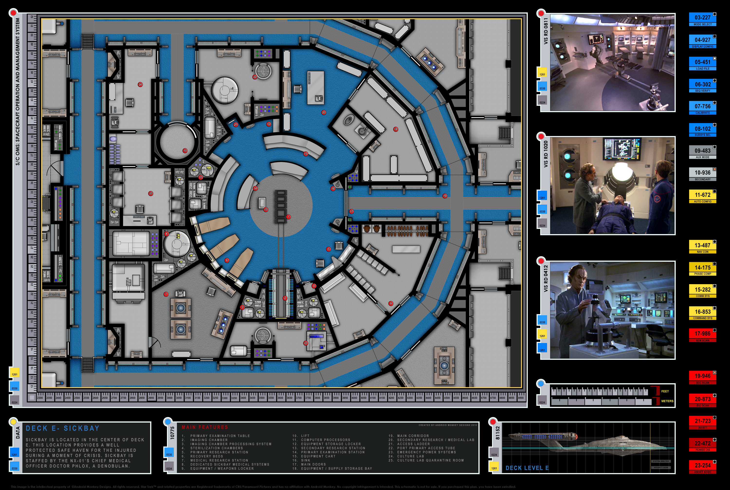 Star Trek Blueprints Enterprise Nx 01 Deck Plans Engineering Schematics