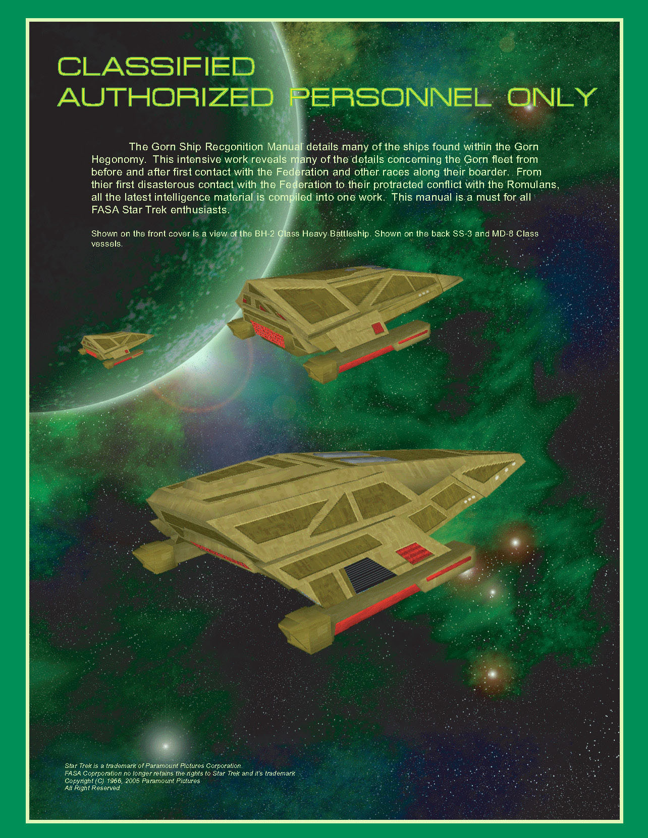 FASA Gorn Ship Recognition Manual