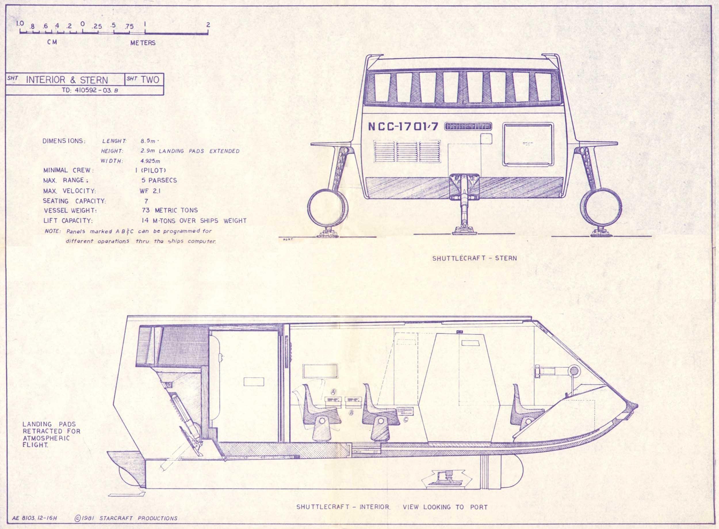 Star Trek Blueprints: Shuttlecraft Galileo NCC-1701/7