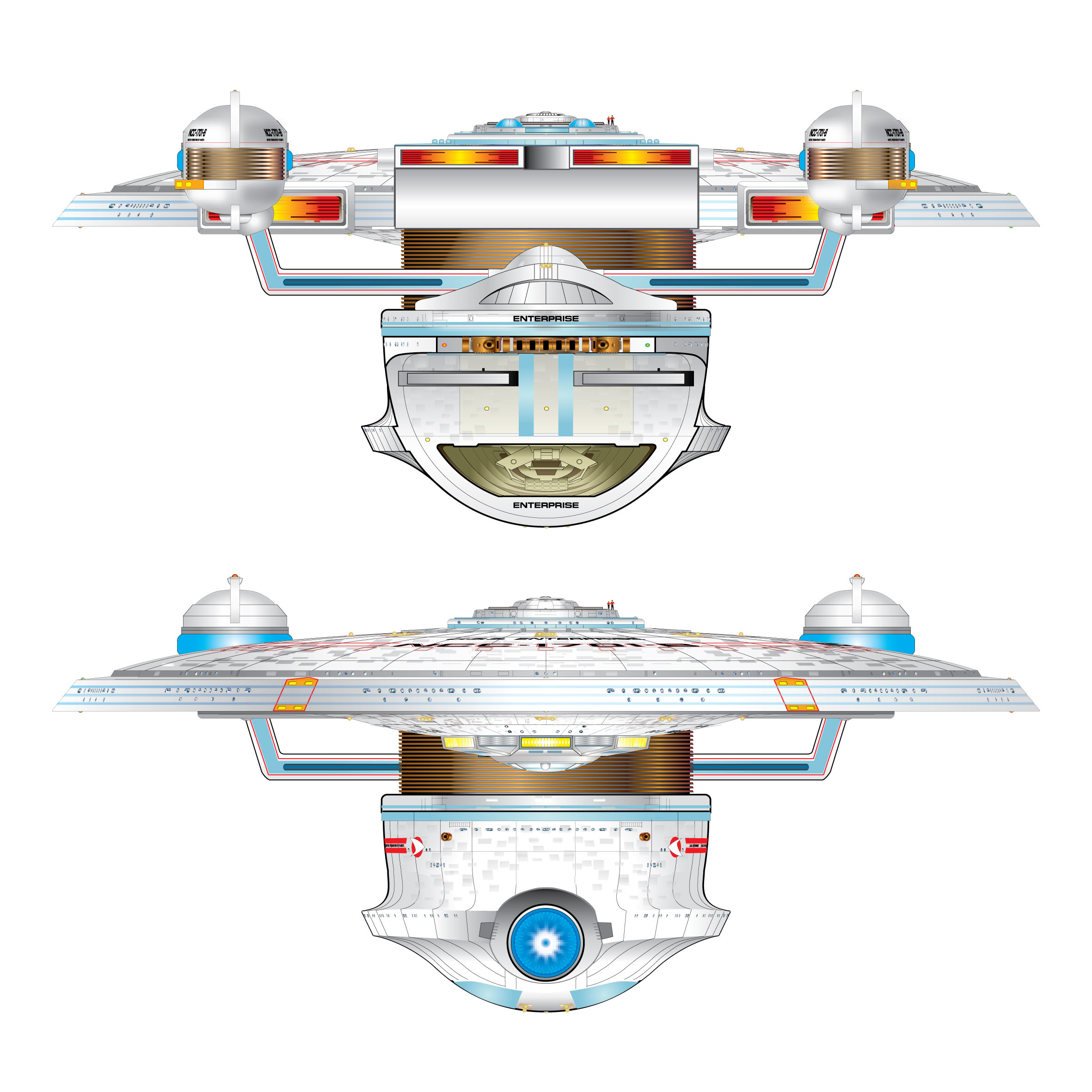 Uss enterprise ncc 1701 d galaxy class saucer separation r flickr - Dorsal And Ventral Schematics Of U S S Enterprise Ncc 1701 B Star Trek U S S Enterprise Ncc 1701 B Pinterest Star Trek Trek And Uss Enterprise