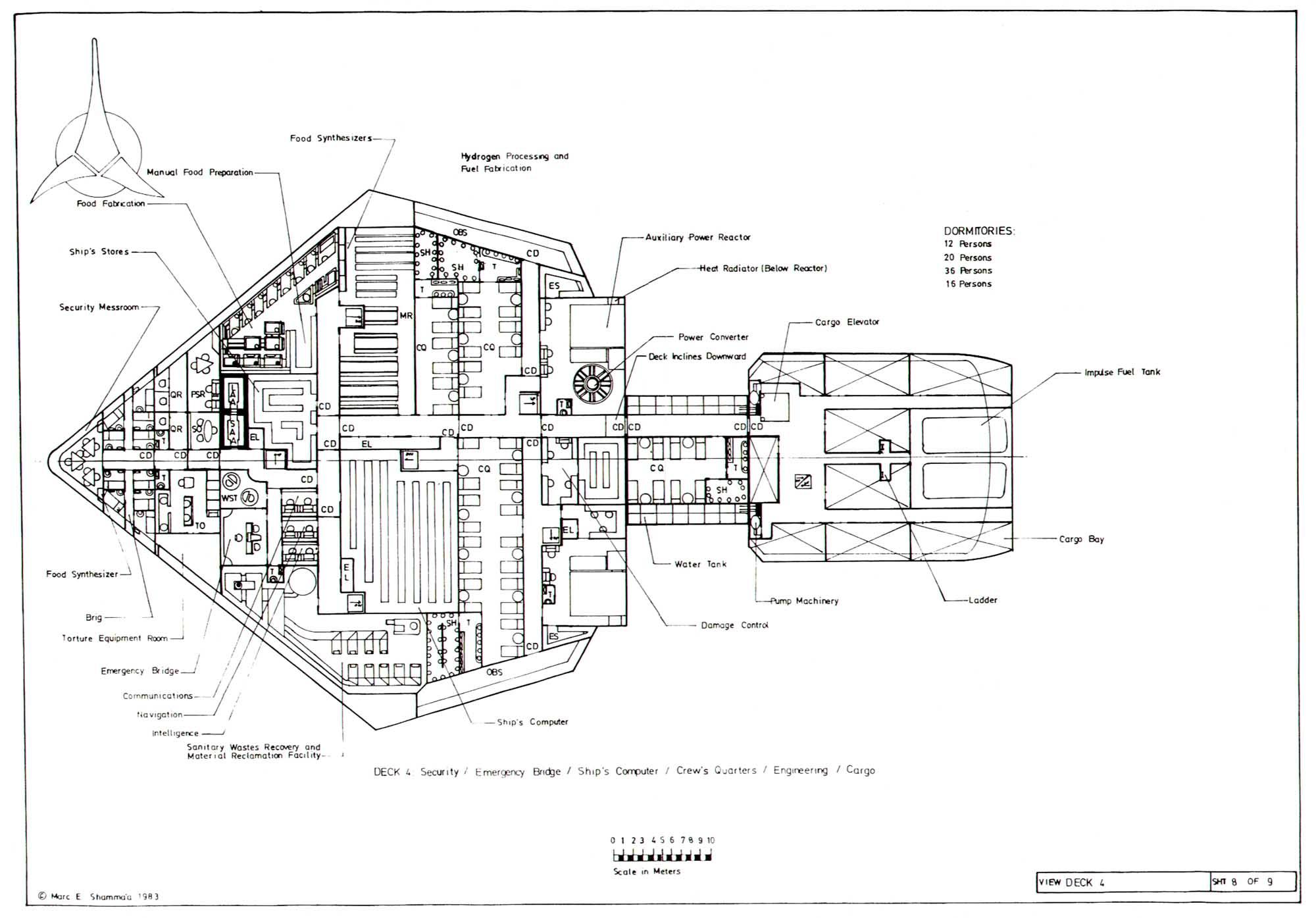 destroyer engine diagram