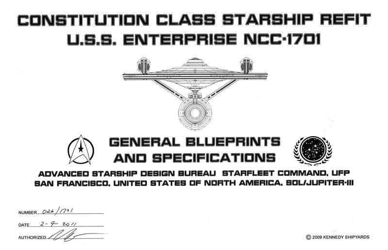 U.S.S. Enterprise NCC-1701 - Constitution Cl Starship Refit ...