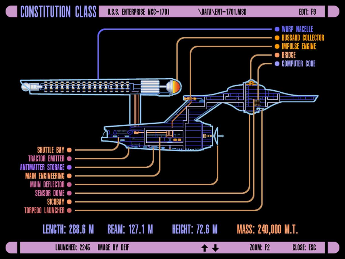 Star Trek Blueprints: LCARS 24 Schematics