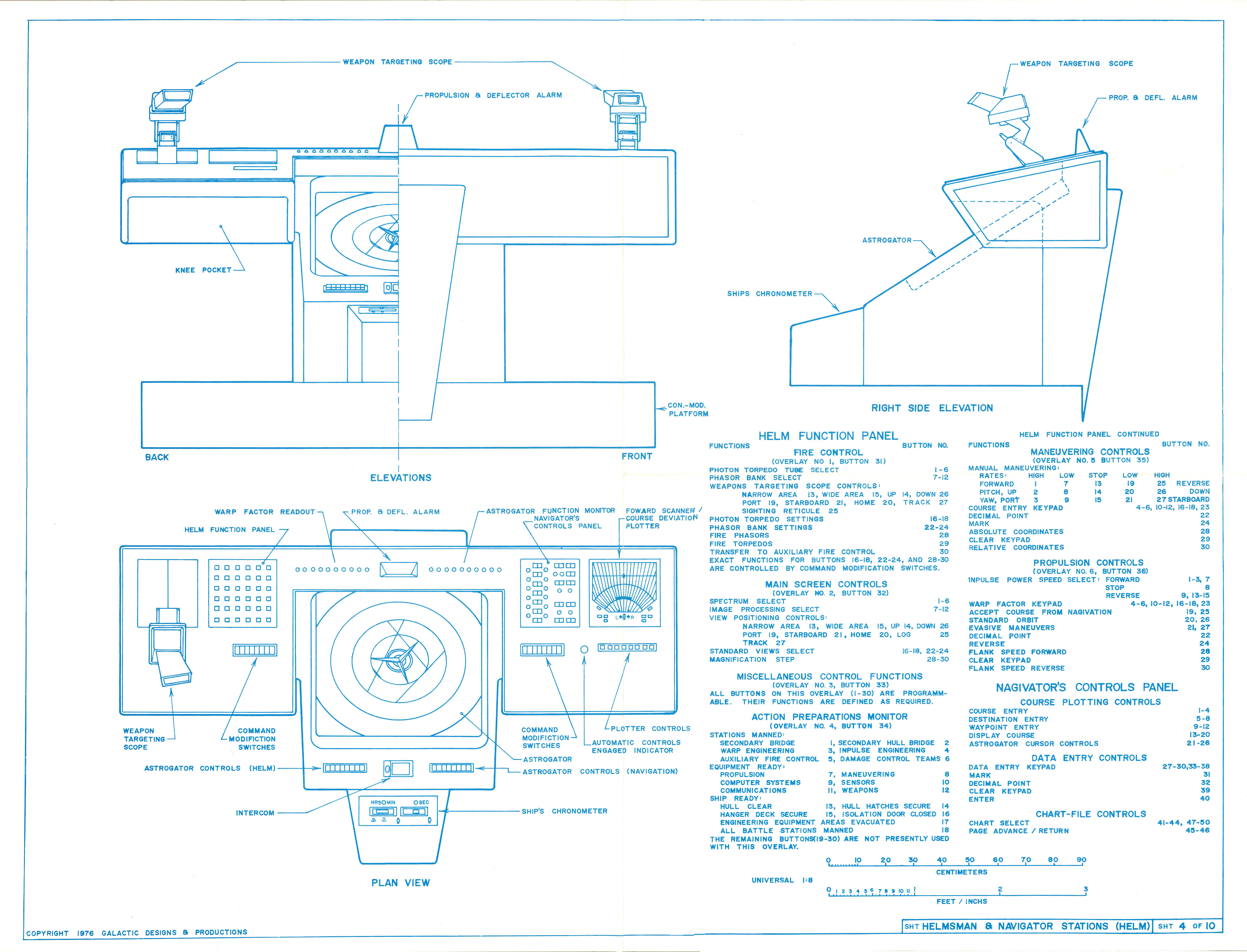 U.S.S. Enterprise Bridge Blueprints by Michael McMaster on