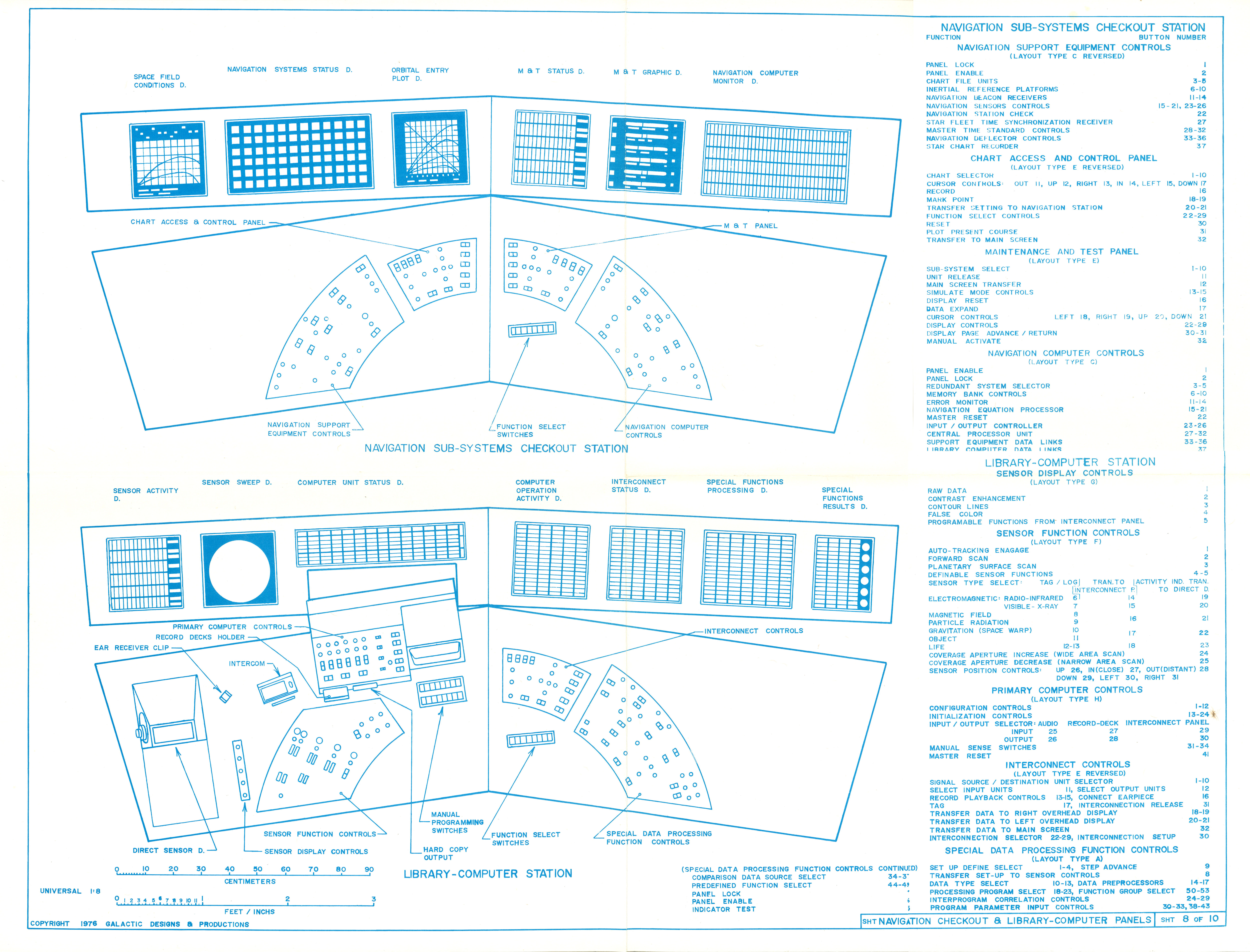 Uss enterprise bridge blueprints by michael mcmaster malvernweather Choice Image