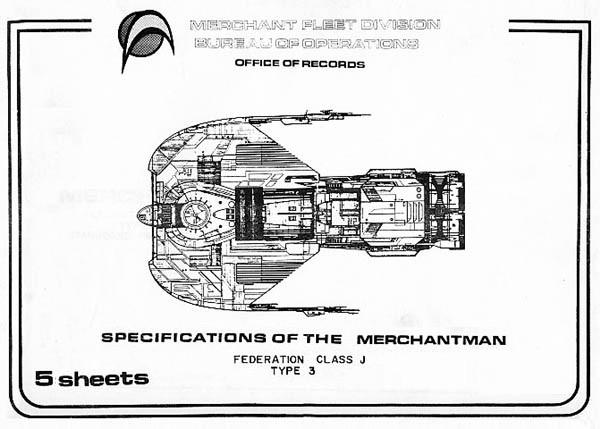 star trek blueprints  merchantman federation class j