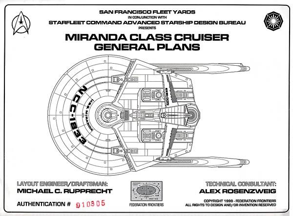 Star trek blueprints miranda class cruiser general plans uss uss miranda ncc 1833 malvernweather Image collections