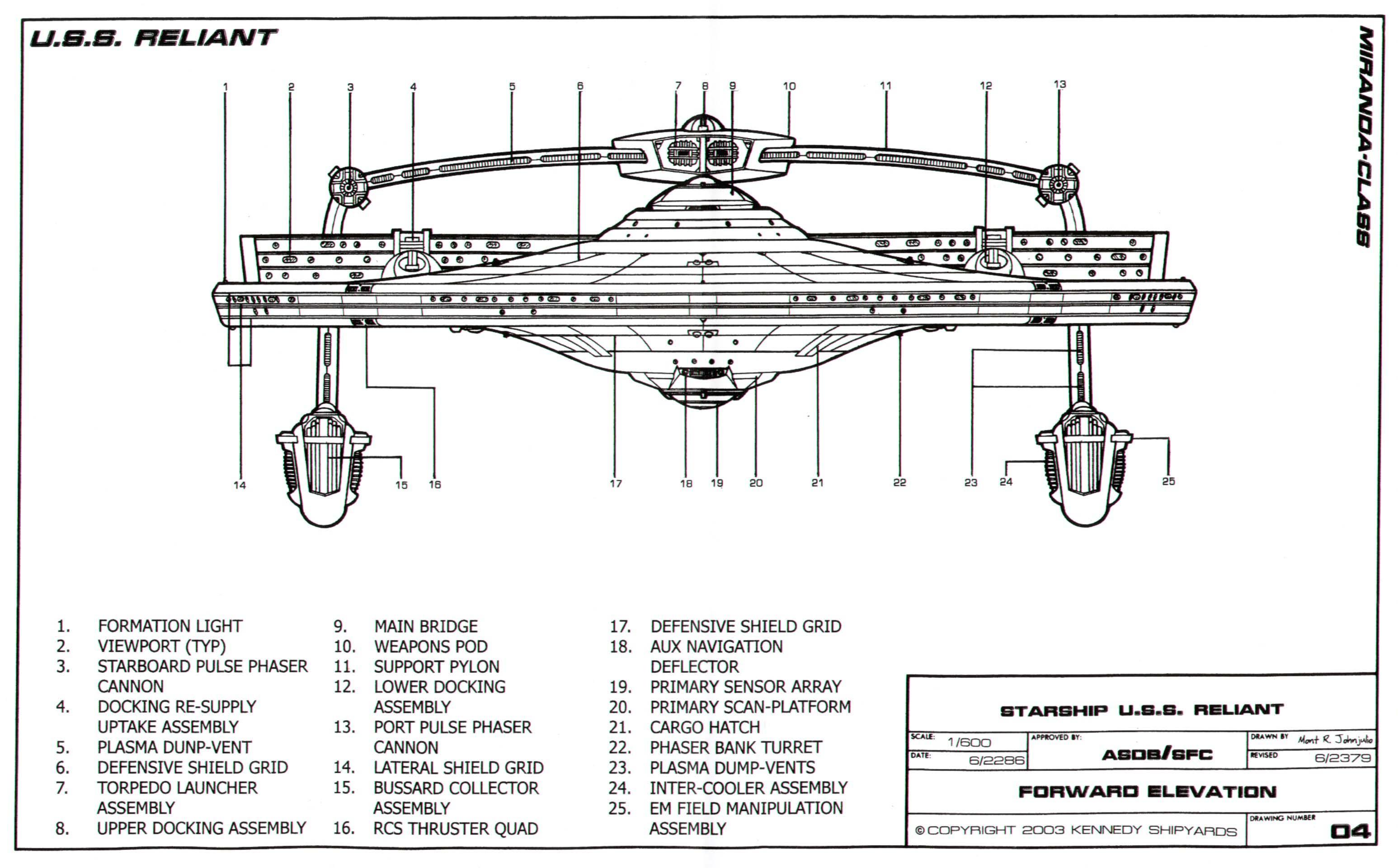 Ncc Wiring Diagram Building A Safc Star Trek Blueprints Miranda Class Starship U S Reliant 1864 Nce