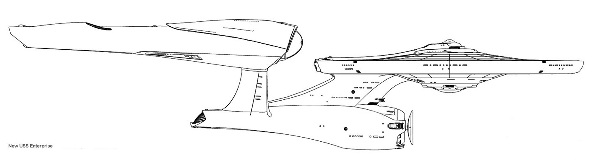 Star Trek Blueprints: New U.S.S. Enterprise NCC-1701 ...