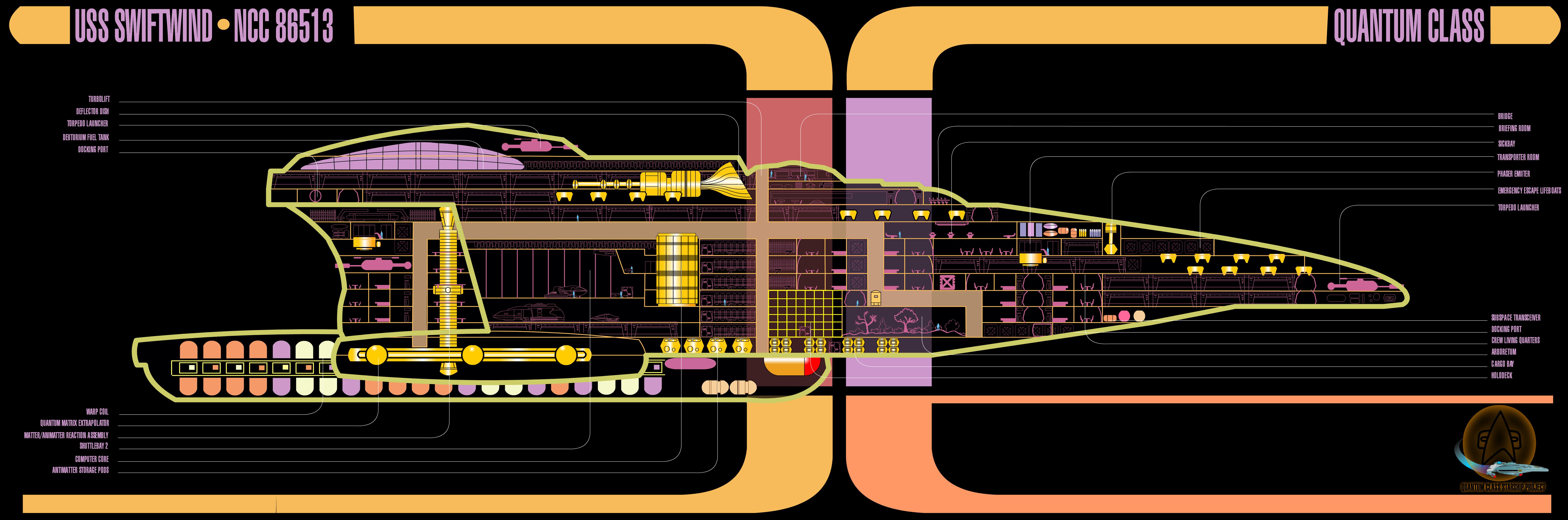 Star Trek Blueprints: Quantum Cl Starship Schematics - U.S.S. ... Starship Schematics on cylon fighter schematics, starbase schematics, macross sdf-1 schematics, space schematics, train schematics, mecha schematics,