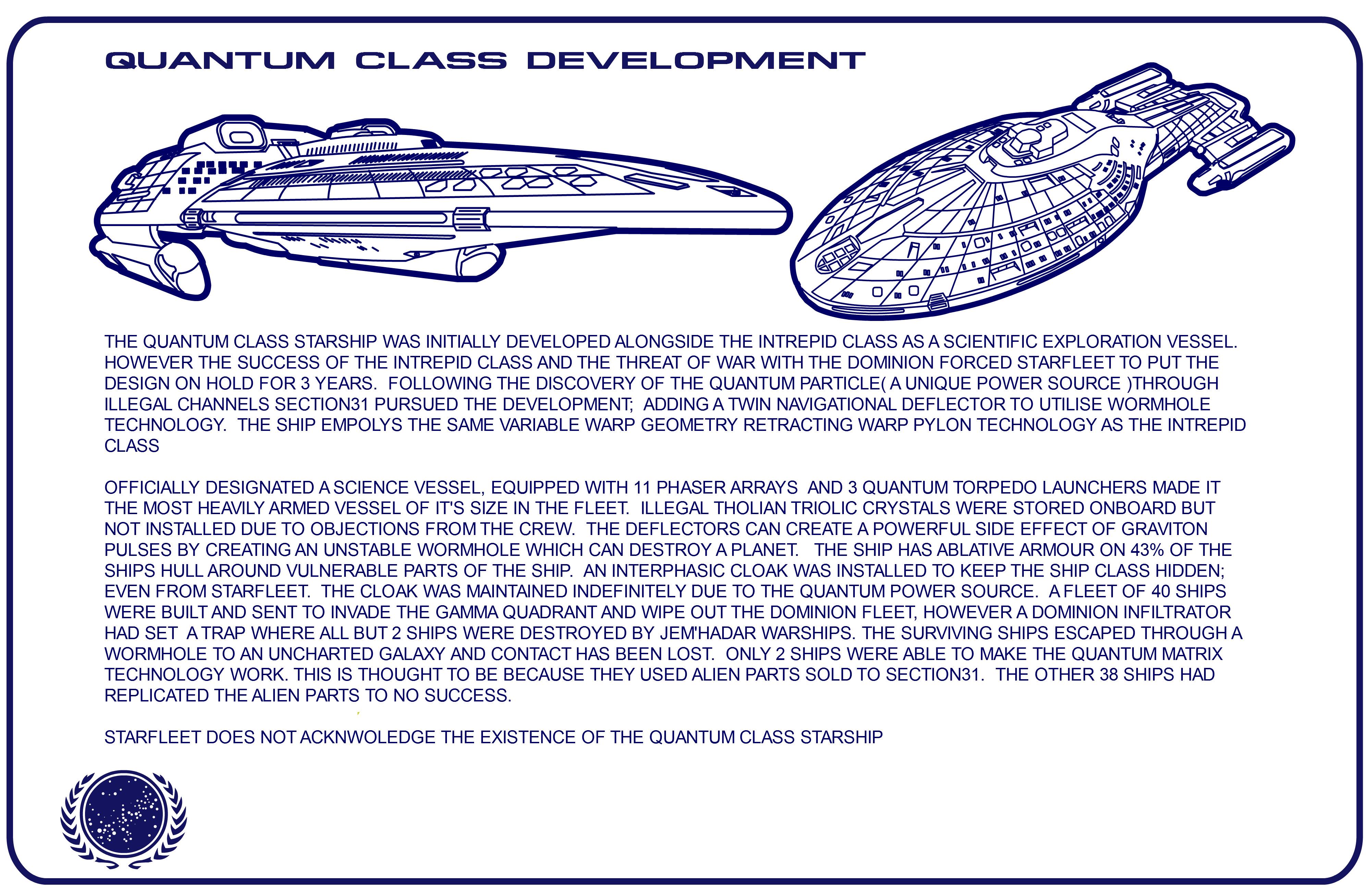 Star Trek Blueprints Quantum Class Starship Schematics