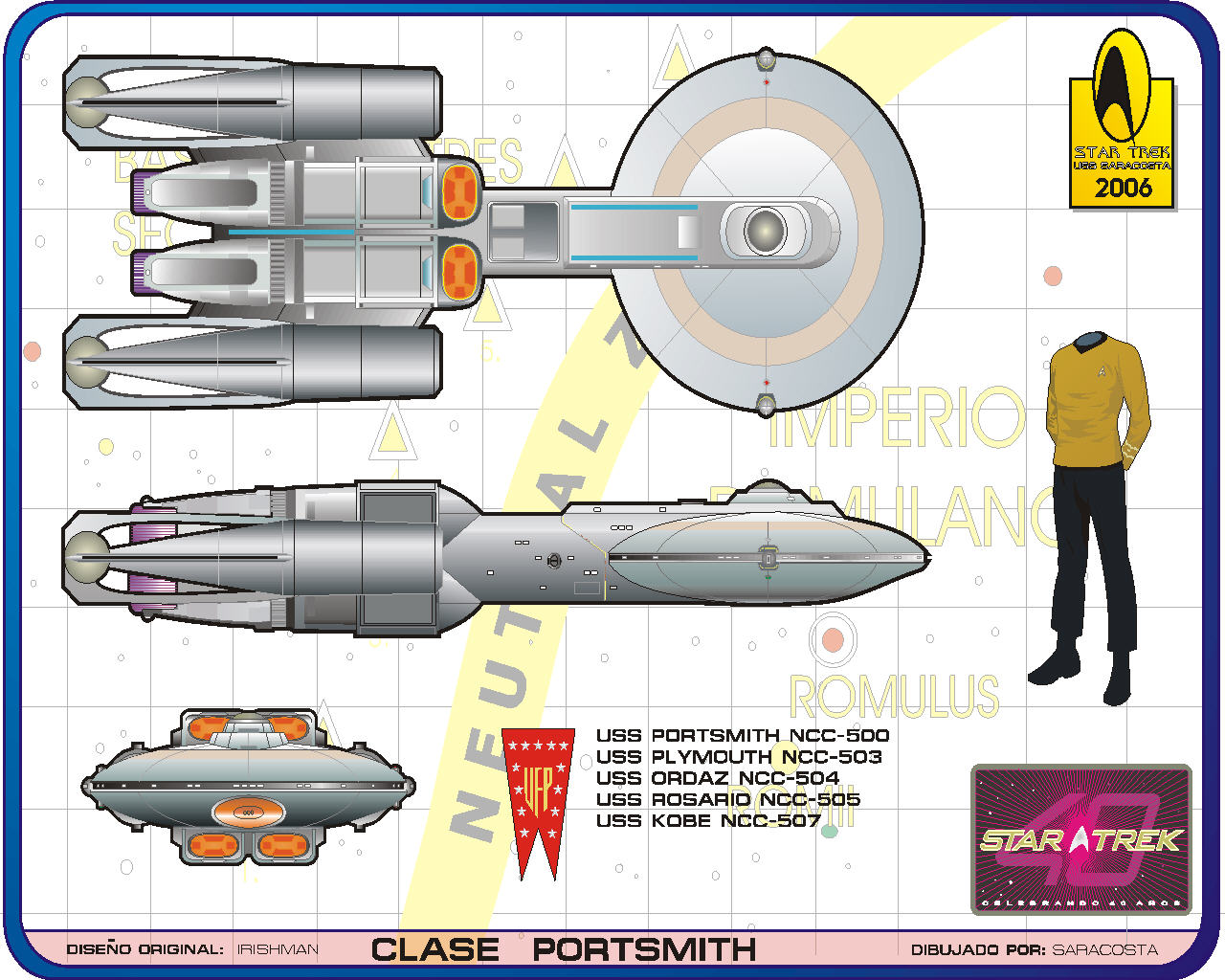 Star Trek Blueprints: U.S.S. Saracosta NCC-9737 Website Schematics