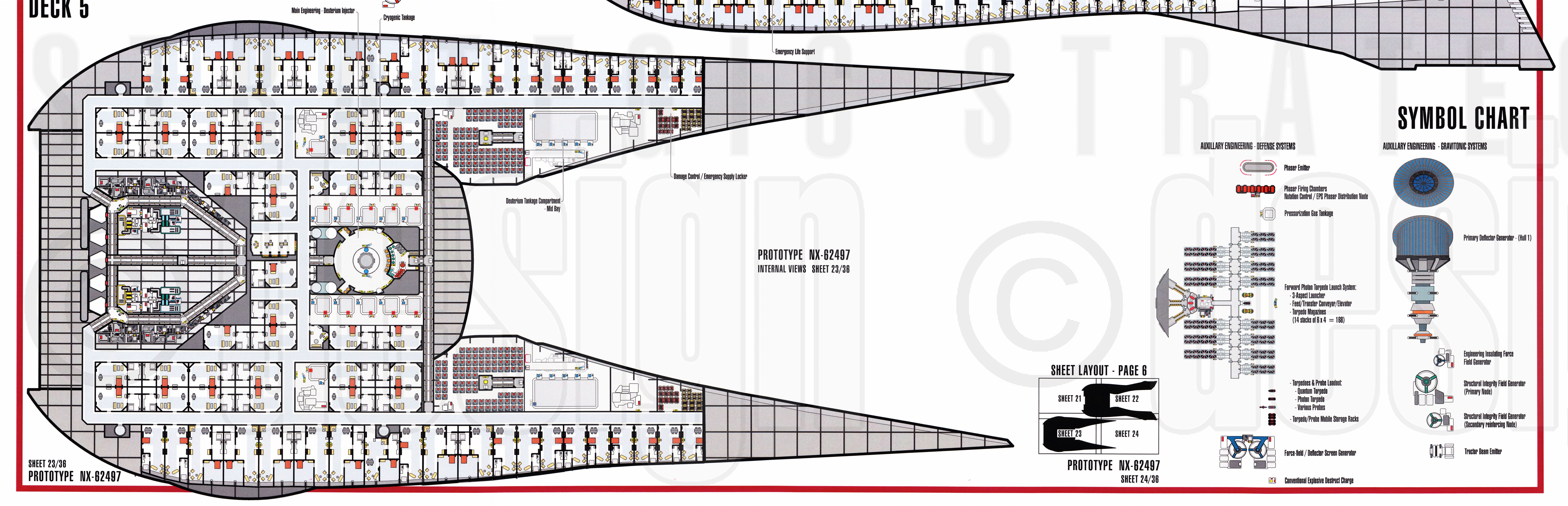 Star trek blueprints u s s akira nx 62497 for Deck blueprints
