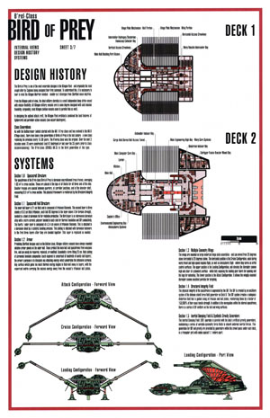 Star Trek Blueprints B Rel Class Klingon Bird Of Prey