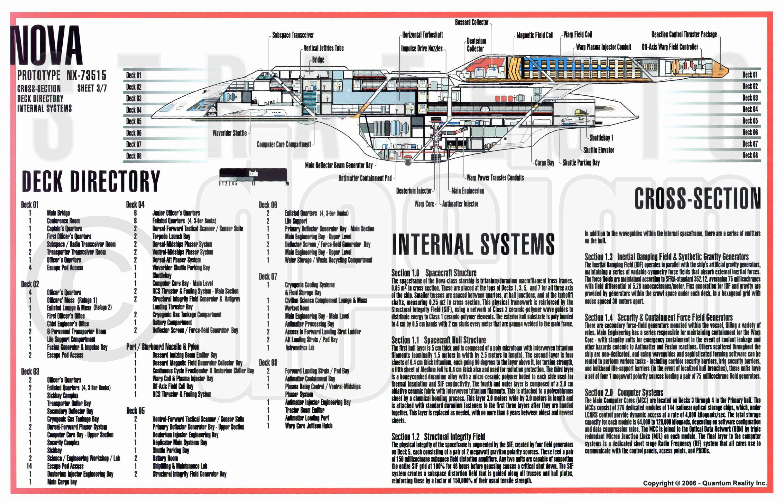Star trek blueprints uss nova nx 73515 sheet 3 cross sectioninternal systemsdeck directory malvernweather Images