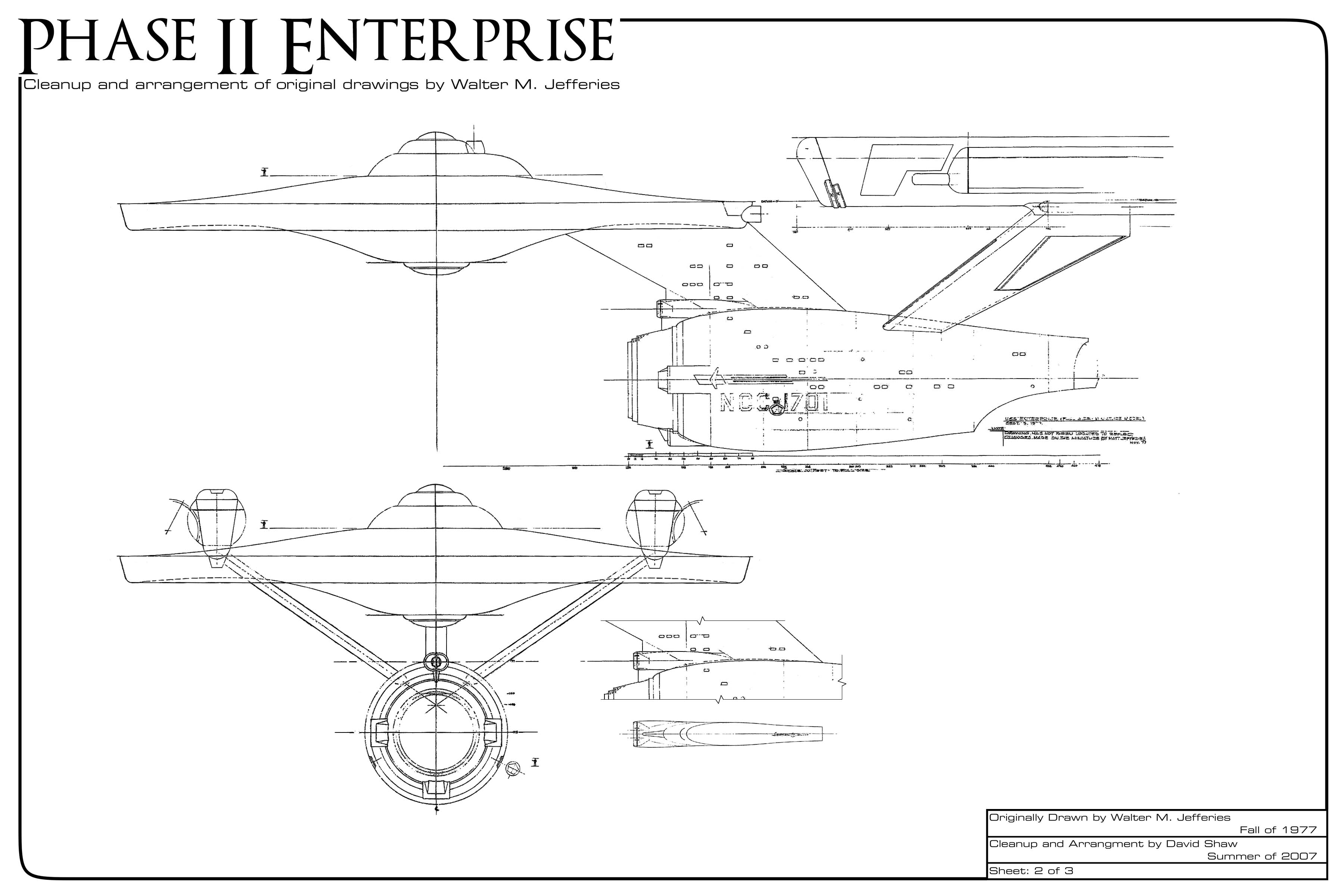Star trek blueprints phase ii enterprise clean up project phase ii enterprise malvernweather Choice Image