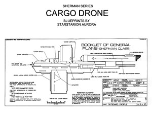 sherman class cargo drone cover s star trek blueprint database
