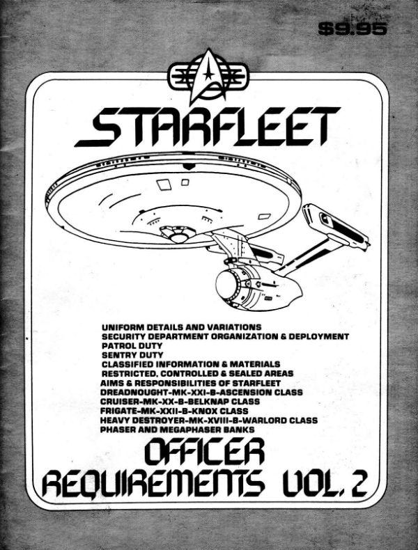 Star Trek Blueprints Starfleet Officer Requirements Volume Ii