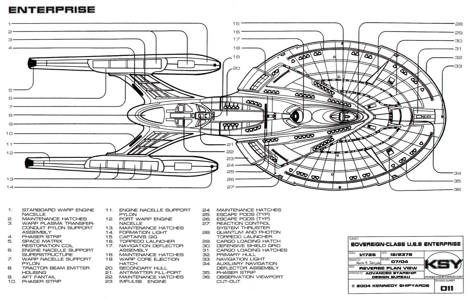 Star Trek USS Enterprise E Blueprints