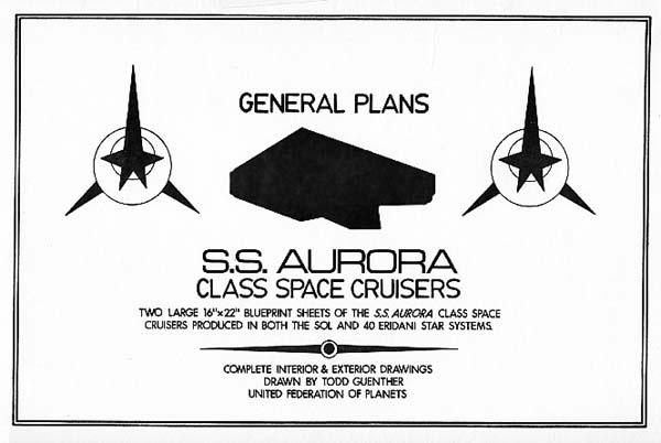 Star trek blueprints ss aurora class space cruisers ncc c1200 ss aurora ncc c1200 malvernweather Images