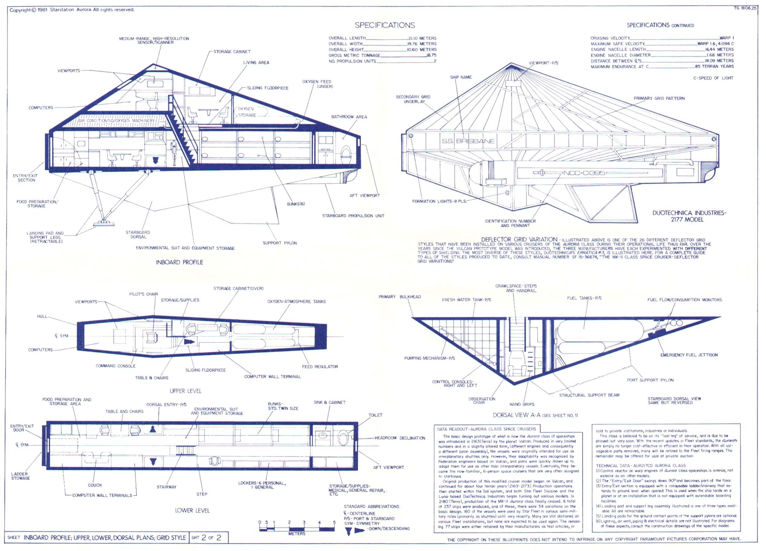 Star trek blueprints ss aurora class space cruisers ncc c1200 ss aurora class space cruiser malvernweather Images
