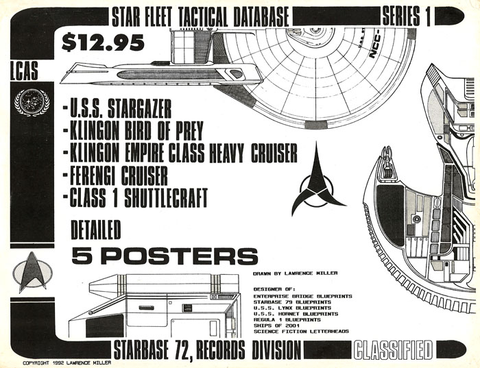 Star Trek Blueprints: Star Fleet Tactical Database Series 1