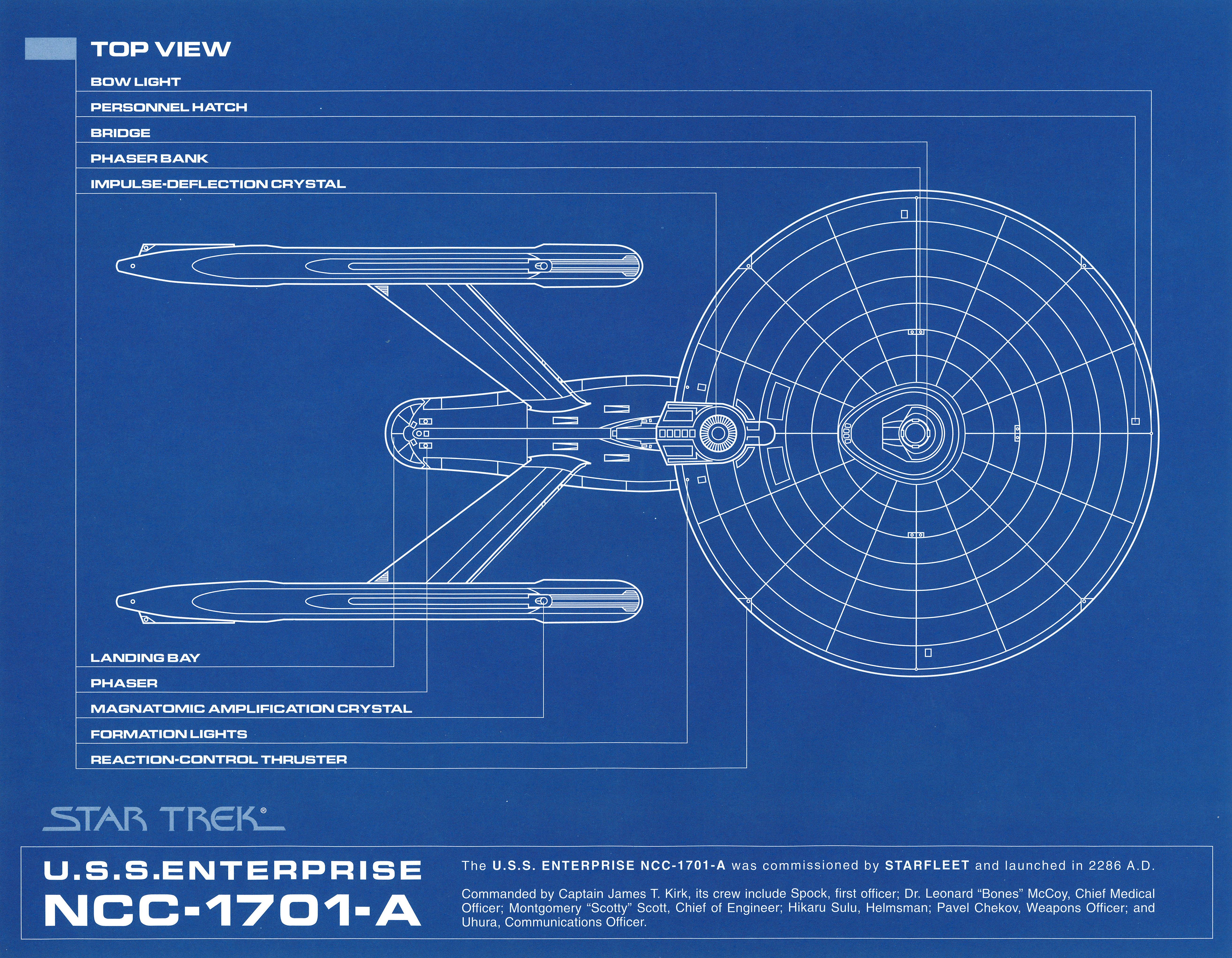 Star trek blueprint collection a portfolio set of 8 for How to print blueprints