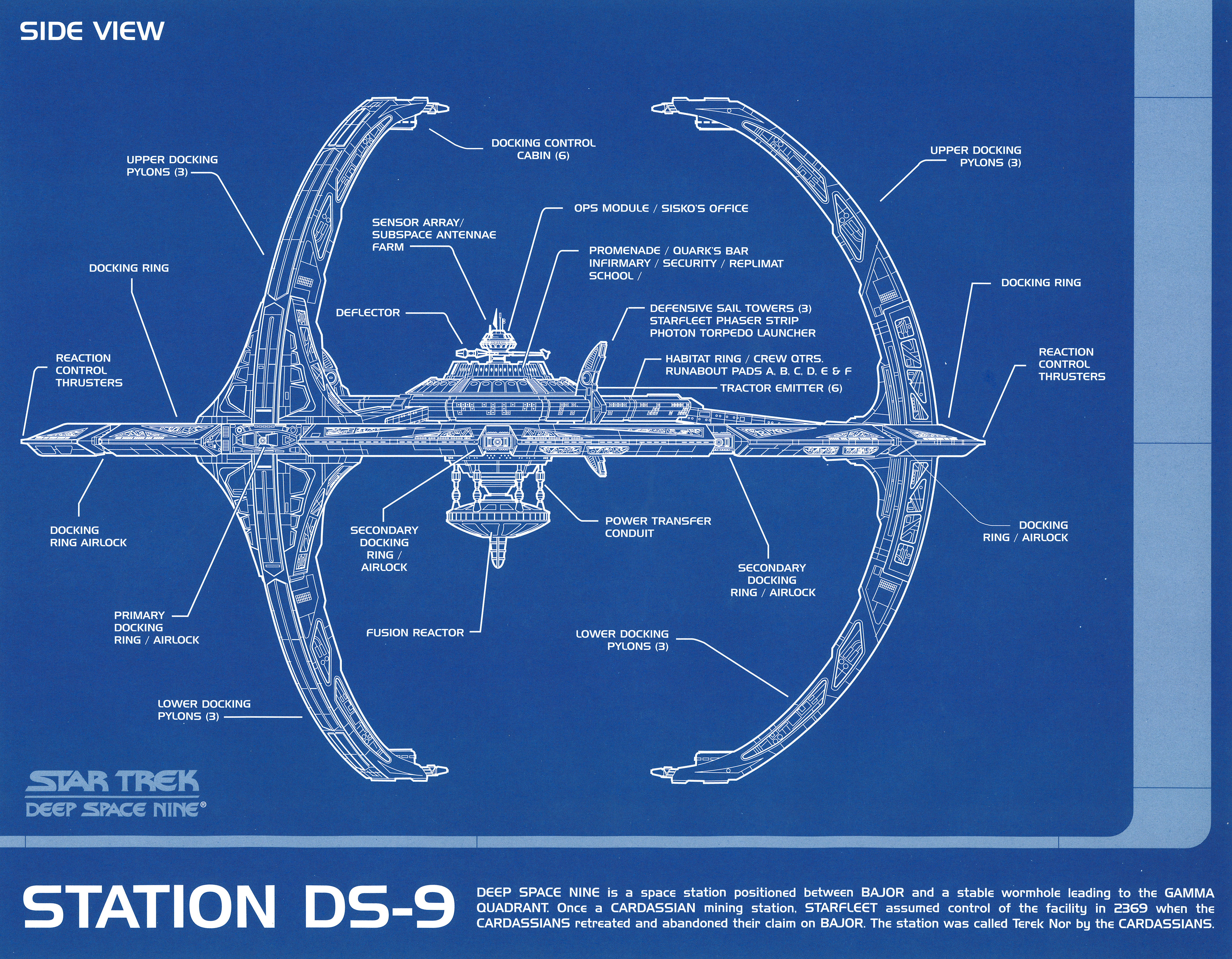 Star trek blueprint collection a portfolio set of 8 authorized 11 star trek blueprint collection malvernweather Gallery
