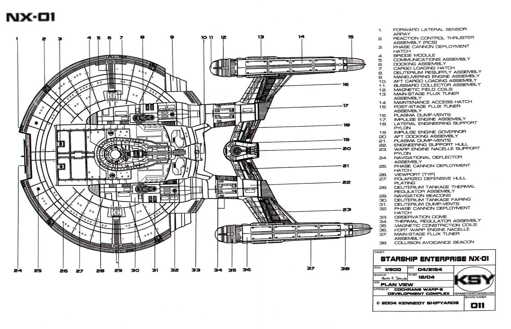 Star trek blueprints starfleet vessel enterprise nx 01 for Decor fusion interior design agency manchester m3
