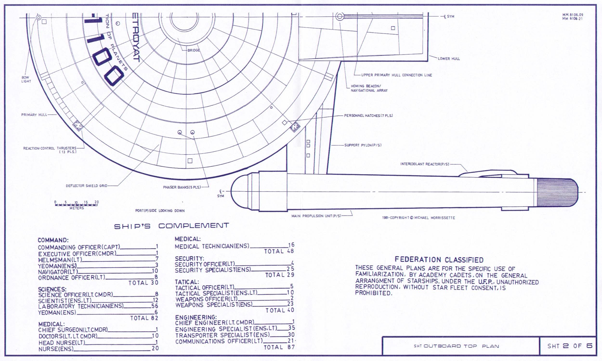 Star Trek Blueprints Heavy Destroyer Class USS Destroyat - Death star blueprints