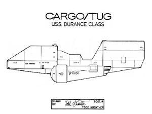 uss durance class cargo tug cover s star trek blueprint database