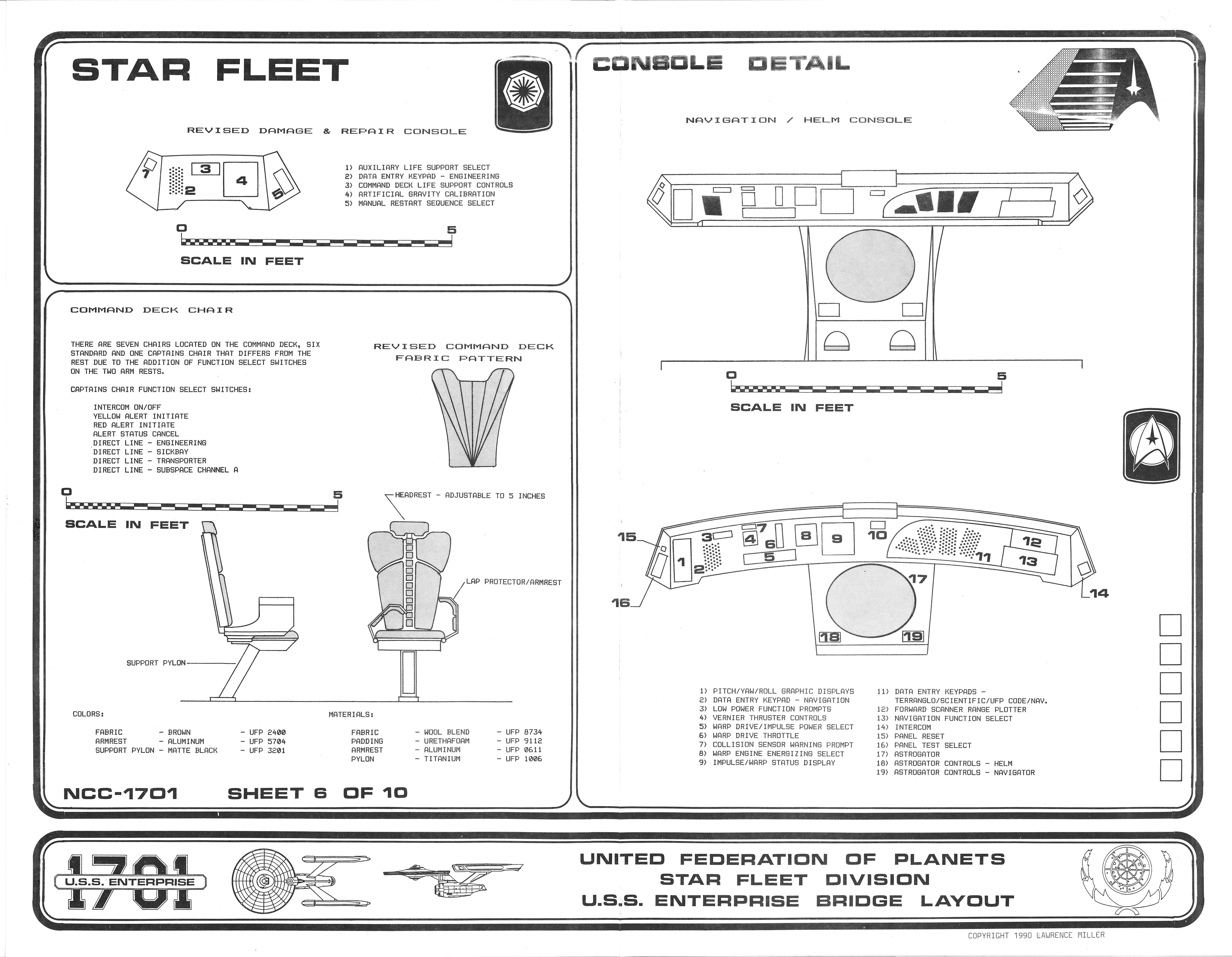 U.S.S. Enterprise 1701 Bridge Blueprints