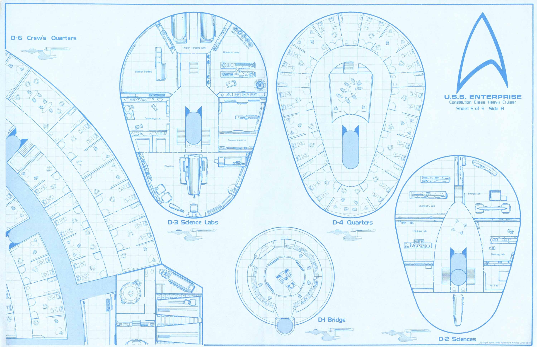 Star Trek Blueprints: USS Enterprise 15mm FASA Deck Plans